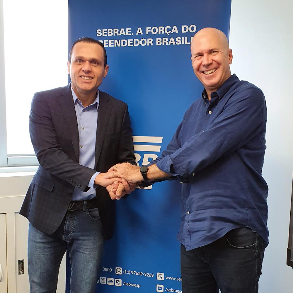 A Com O Empresário Wilson Poit, Também Diretor Superintendente Do Sebrae Sp, Em Reunião Da Sede Do Sebrae Em São Paulo