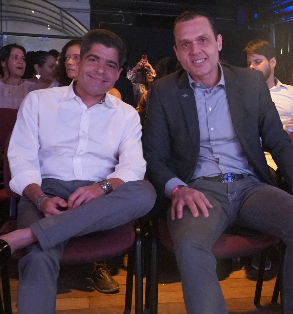 A Com O Prefeito Da Salvador E Presidente Do Dem, Acm Neto, Durante Evento Em Salvador Onde Ambos Foram Palestrantes Em 2019