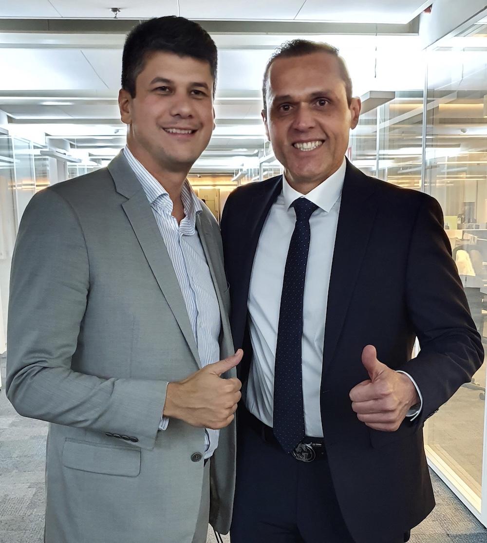 A Com O Presidente Do Bndes Gustavo Montezano, Em Reunião Na Sede Do Sebrae Nacional, Em Brasilia Em 2019