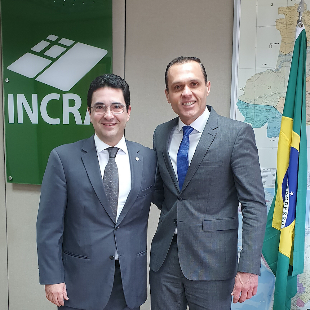 A Com O Presidente Do Incra Geraldo Melo Filho, Na Sede Do Instituto Em Brasilia