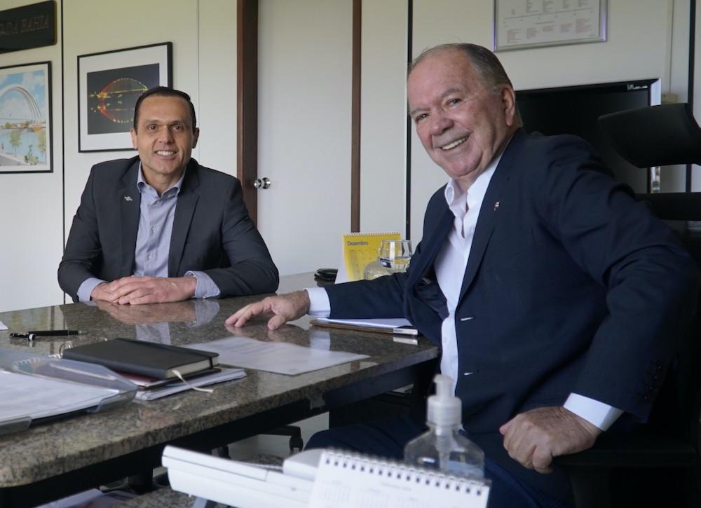 A Com O Vice Governador Da Bahia, João Leão, No Palácio De Ondina, Sede Do Governor Da Bahia Em 2019