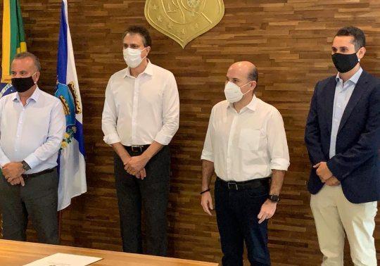 Rogério Marinho tem agenda cheia no Ceará e anuncia R$ 54 milhões para nova etapa de obras do Cinturão das Águas