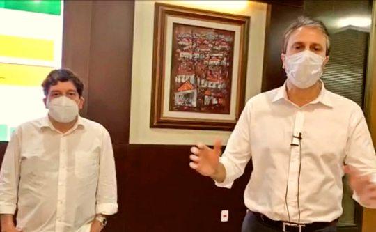 Camilo e Dr. Cabeto comemoraram a redução de casos de Covid-19 no Ceará