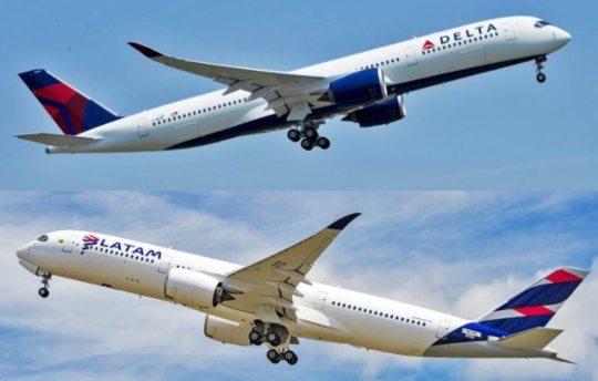 Latam e Delta pretendem formar joint venture para superar impactos da Covid