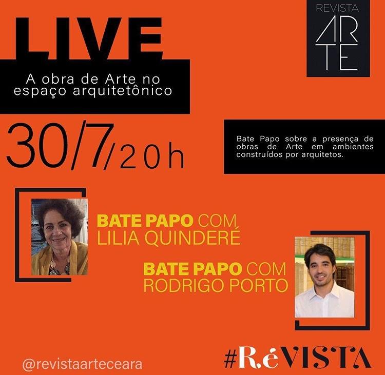 Live da Revista Arte aborda uso de obras em espaços arquitetônicos