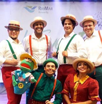 Banda BBK alegra o fim de semana da criançada na Pracinha do RioMar Online