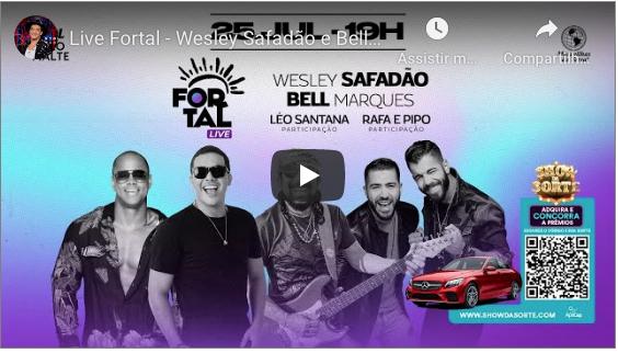 Wesley Safadão e Bell Marques comandam a animação do Fortal 2020 em live direta de Fortaleza