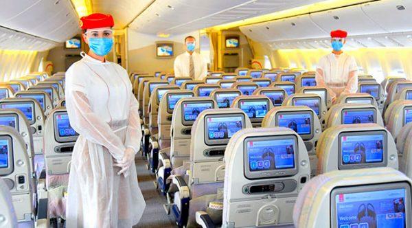 Emirates oferece a seus passageiros seguro gratuito contra a Covid-19