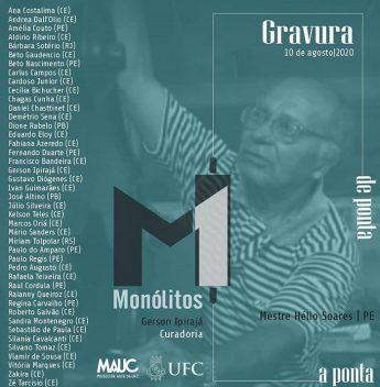 Exposição virtual do MAUC abre hoje, reunindo 43 artistas e mostra a dinâmica da gravura
