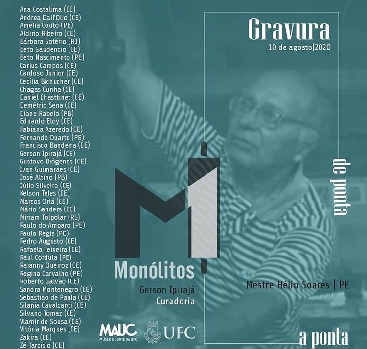 Exposição virtual do MAUC reúne 43 artistas e mostra a dinâmica da gravura