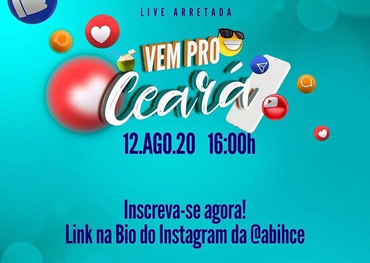 Hoteleiros programam live para divulgar a retomada do turismo no Ceará