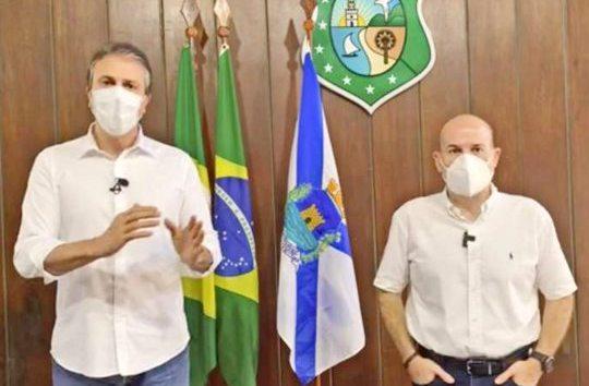 Camilo e Roberto Cláudio anunciam retorno da educação infantil privada e novas flexibilizações na Capital