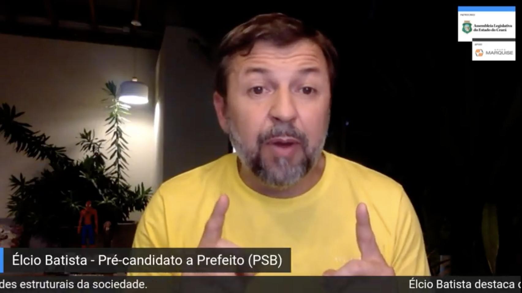 Élcio Batista apresenta suas propostas para governar Fortaleza durante live com Pompeu Vasconcelos