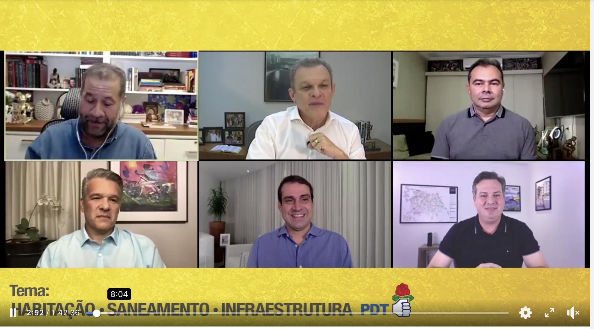 Presidente nacional do PDT, Carlos Lupi media debate com pré-candidatos do PDT à prefeitura de Fortaleza