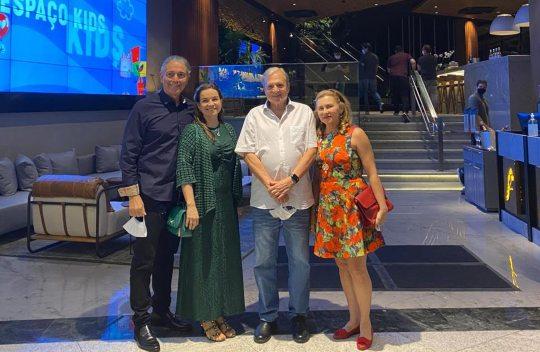Tasso e Renata Jereissati visitam as instalações do novo Restaurante Coco Bambu Iguatemi Fortaleza