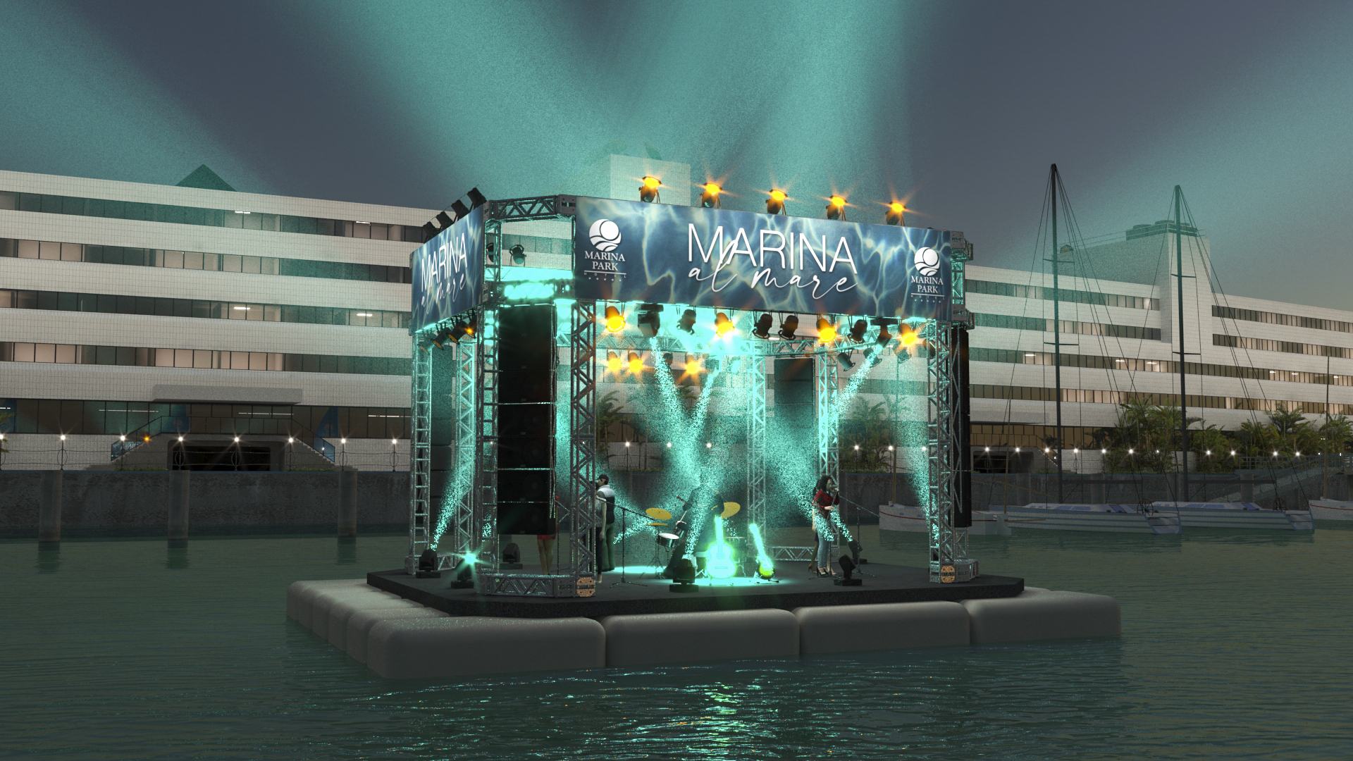 Com palco flutuante e grandes atrações, Marina Al Mare acontece neste fim de semana