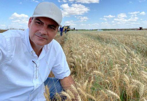 Alexandre Sales comemora a elevada produtividade do trigo obtida no Ceará