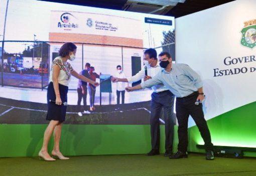 Governo do Ceará inaugura quatro areninhas no interior de maneira virtual
