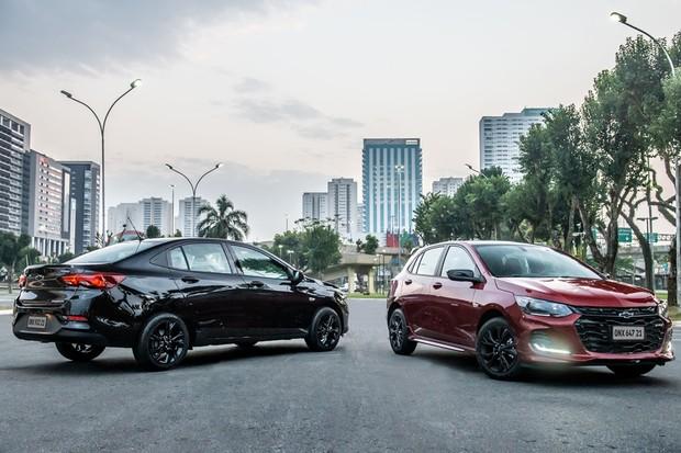 GM apresenta novos Onix RS e Midnight no Brasil