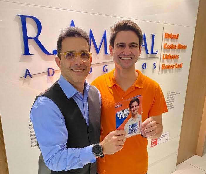 Pedro Matos cumpre agenda de campanha em escritórios de advocacia em Fortaleza