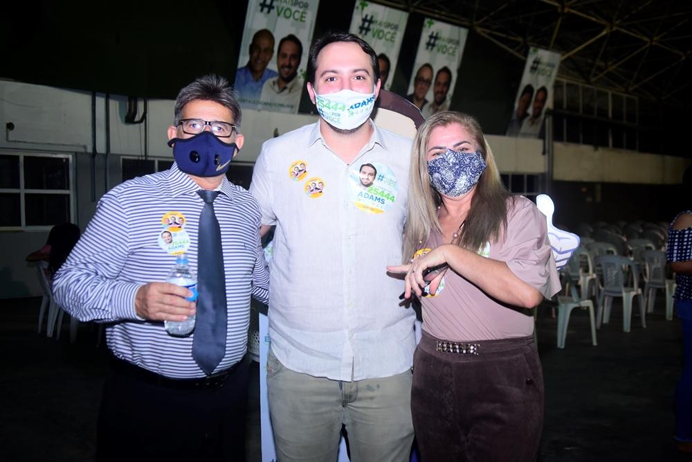Anastácio Mesquita, Adams Gomes E Gina Mesquita