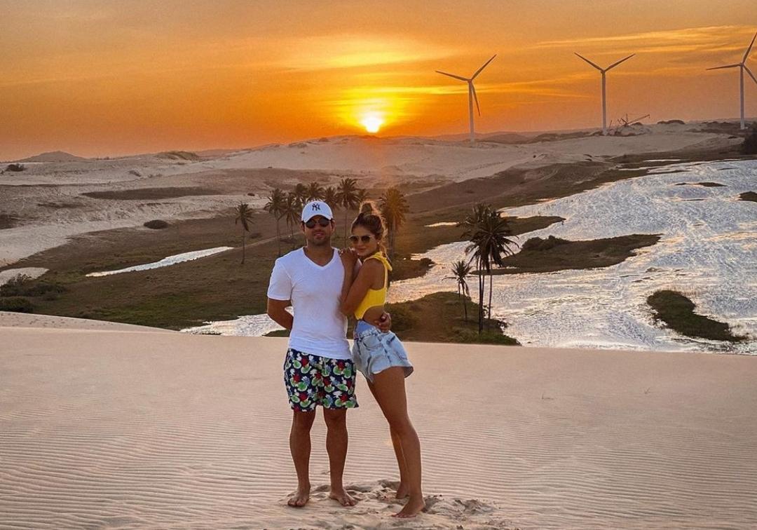 Thássia Naves e Artur Attie celebram seu primeiro ano de casados em viagem ao Ceará