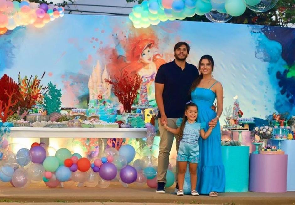 Camila Nogueira e Rômulo Leite festejam o quarto aniversário de Sophia