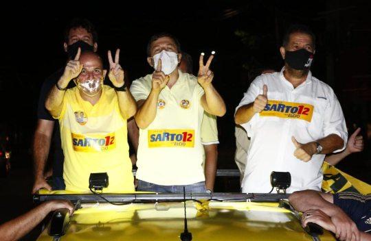 Campanha de Sarto recebe reforço do presidente nacional do PDT, Carlos Lupi