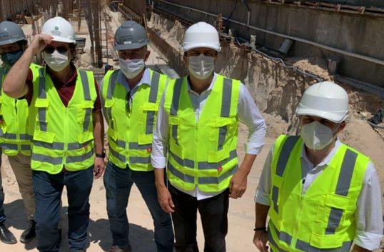Camilo e Roberto Cláudio destacam a geração de empregos nas obras do Metrofor e investimento de R$ 2,2 bi