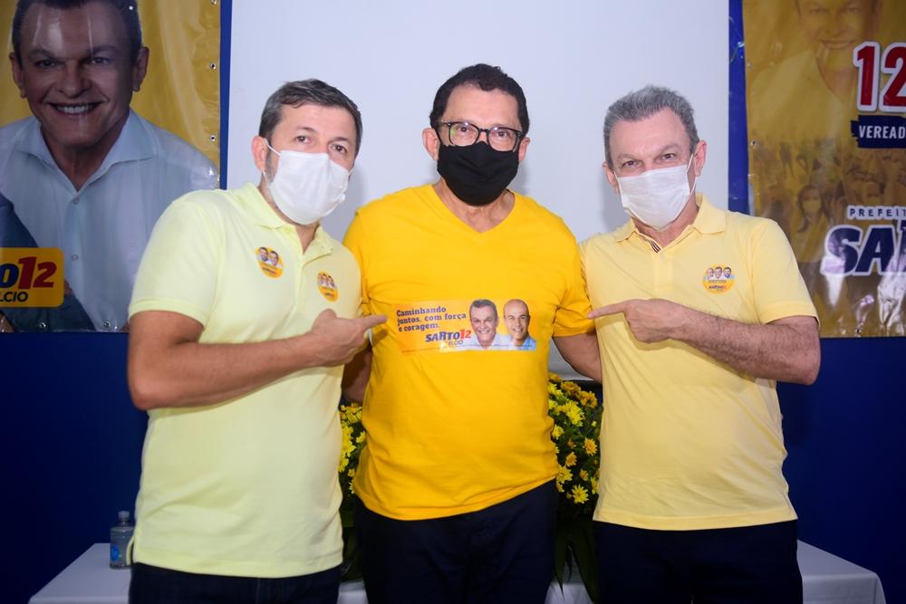 Com a presença de Sarto e Élcio Batista, Elpídio Nogueira inaugura oficialmente seu comitê de campanha