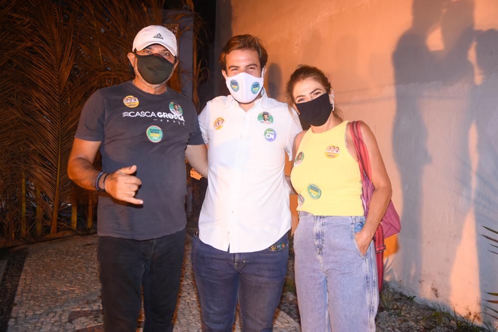 Paulo Parente, Claudio Nelson E Marta Brandão