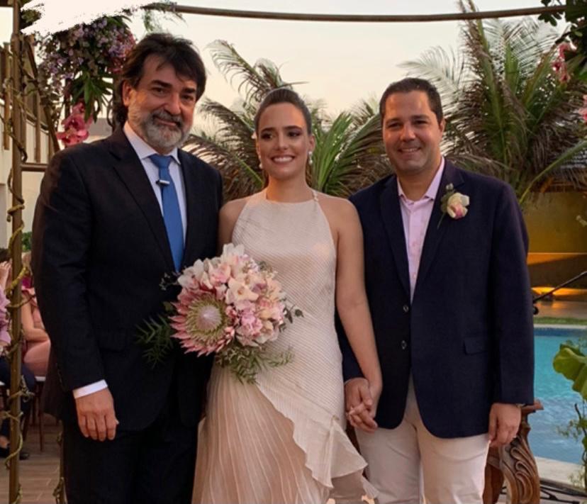 Elegante e intimista! Foi assim a troca de alianças de Gabriela Ventura e Fernando Diniz