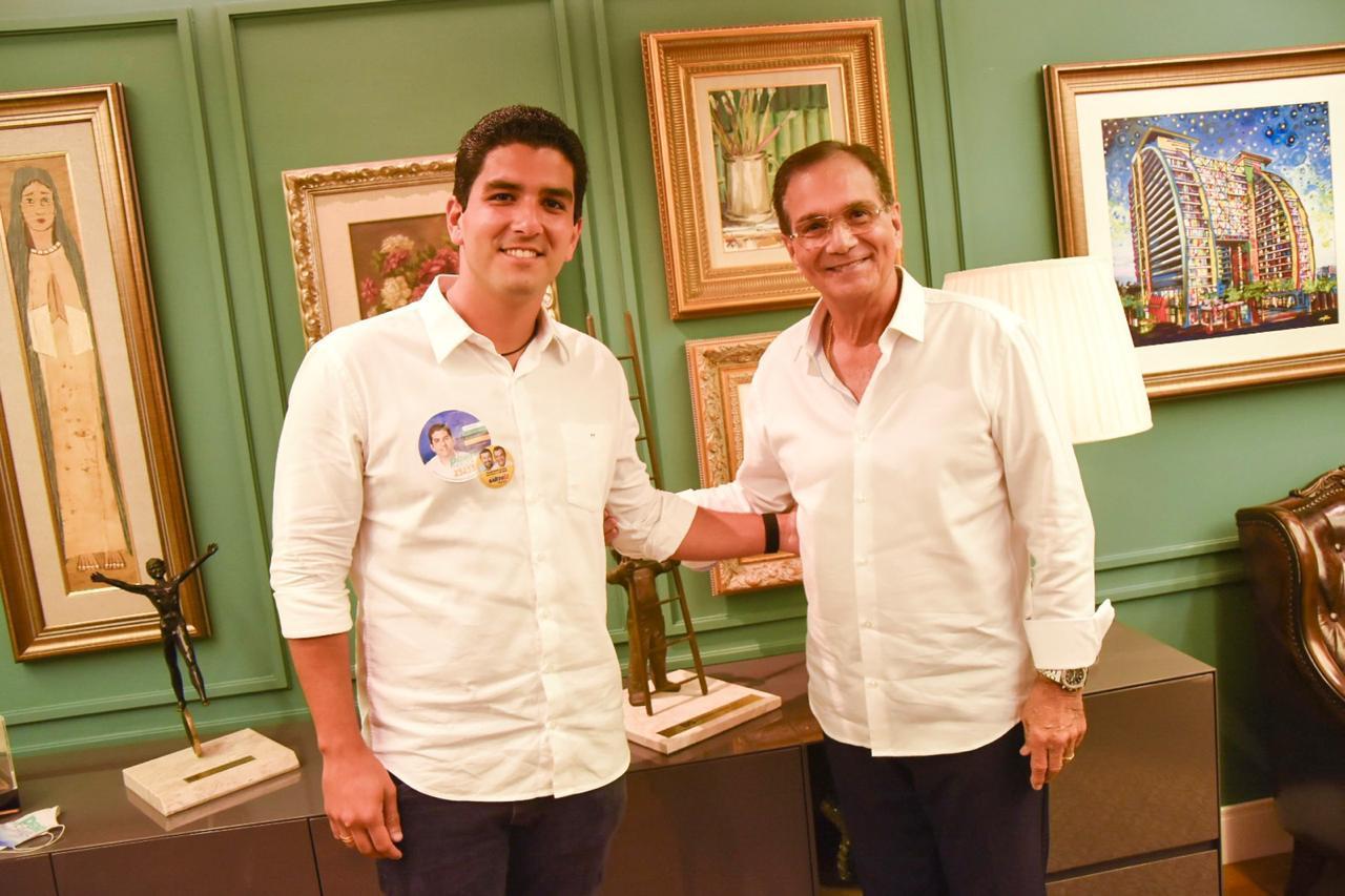 Pedro França apresenta suas propostas voltadas ao empreendedorismo à Beto Studart