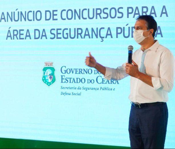 Camilo reforçará a segurança pública e anuncia concurso para 3.128 vagas