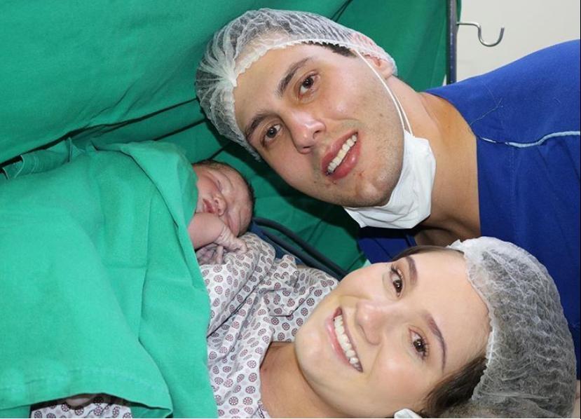 Nasce o primeiro herdeiro de Gabriel Dias Branco e Letícia Teixeira