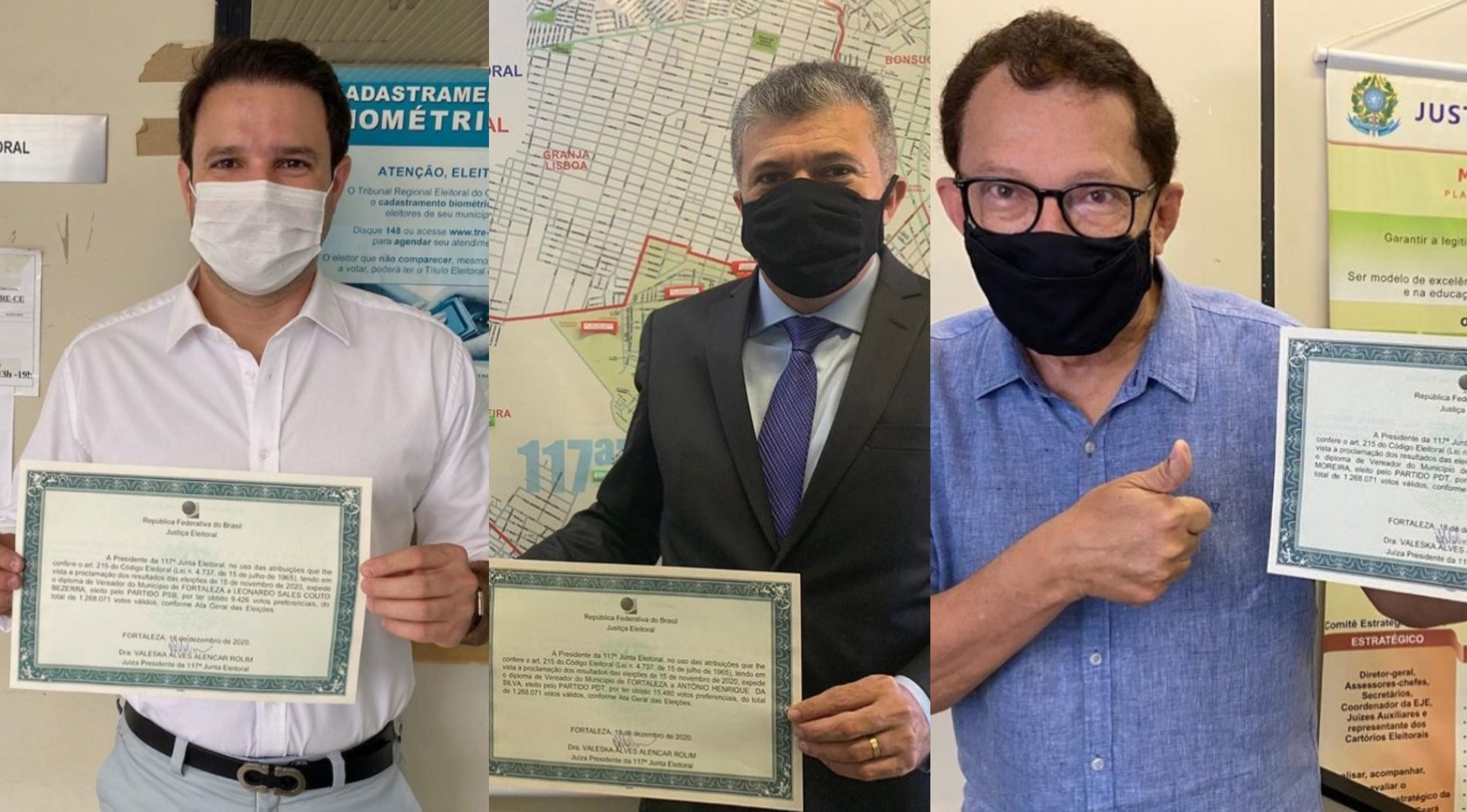 Vereadores eleitos recebem diploma em Fortaleza