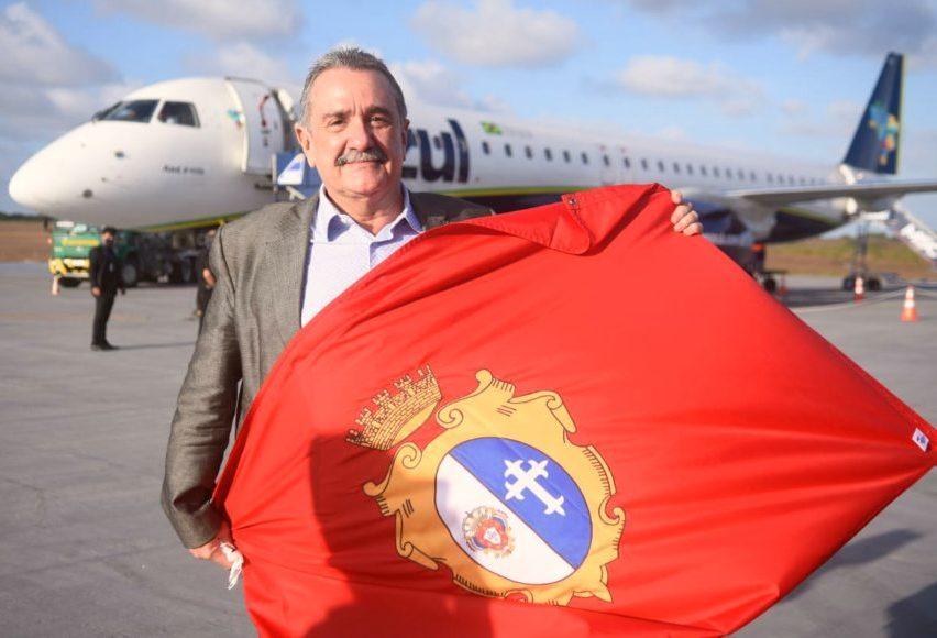 Bismarck Maia inaugura voo direto de São Paulo para o Aeroporto de Aracati