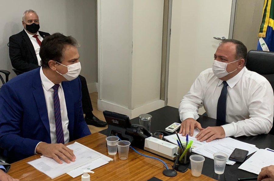 Camilo pede celeridade ao ministro Pazuello sobre o calendário da vacinação
