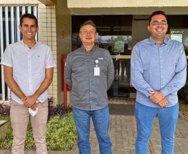 Domingos Neto reúne prefeito eleito de São Gonçalo do Amarante e o presidente da CSP para fortalecer novas parcerias