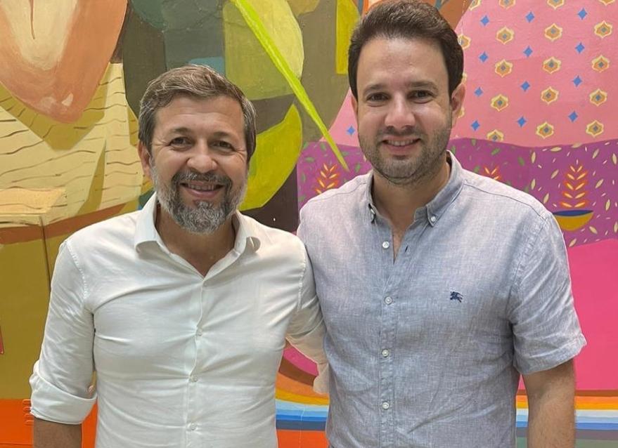 Élcio Batista e Léo Couto visitam a Escola de Gastronomia Social Ivens Dias Branco