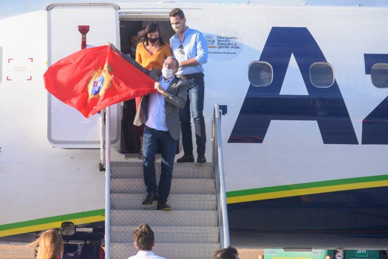 Voo inaugural - Prefeito Bismarck Maia inaugura a rota São Paulo – Aracati