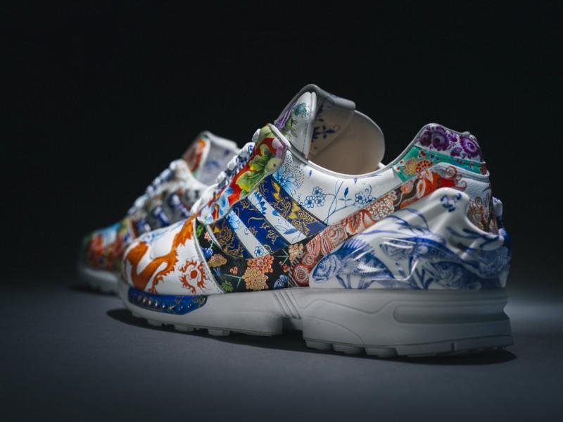 Adidas & Meissen transformam sneakers em arte