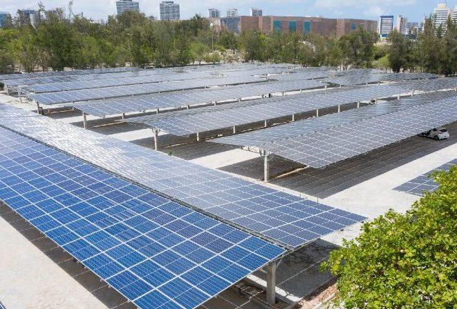 Unifor instala usina solar na cobertura do novo estacionamento do seu campus