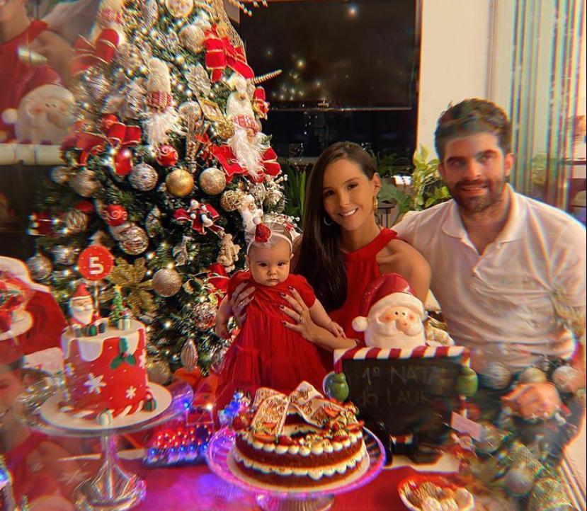 Mari Vasconcelos e Eliseu Becco comemoram os cinco meses da filha Laura