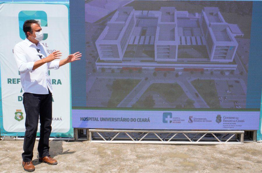 Camilo Santana autoriza a construção do Hospital Universitário do Ceará, com um investimento total de R$ 274,7 milhões