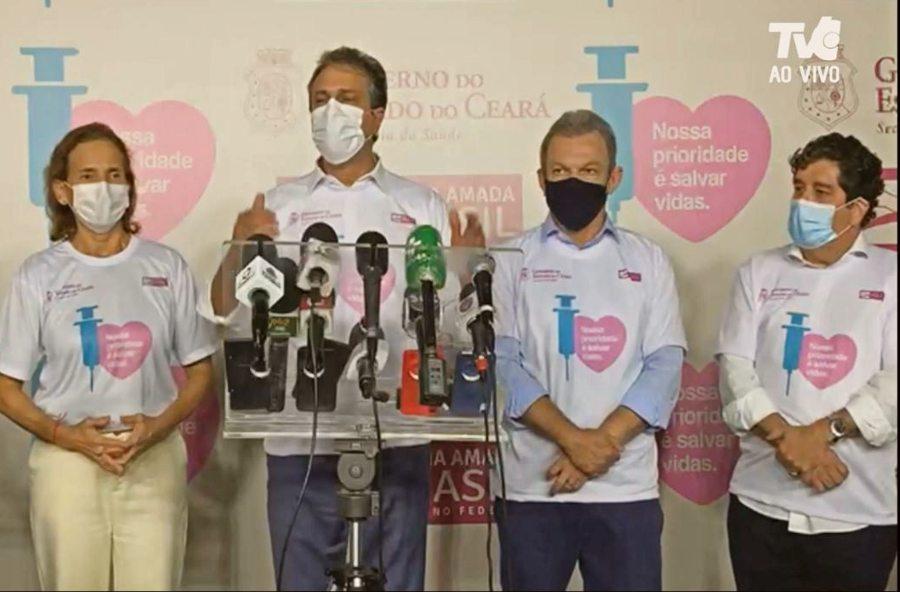 Ceará recebe 218 mil doses da CoronaVac e até o fim de semana o primeiro grupo prioritário já deverá estar imunizado