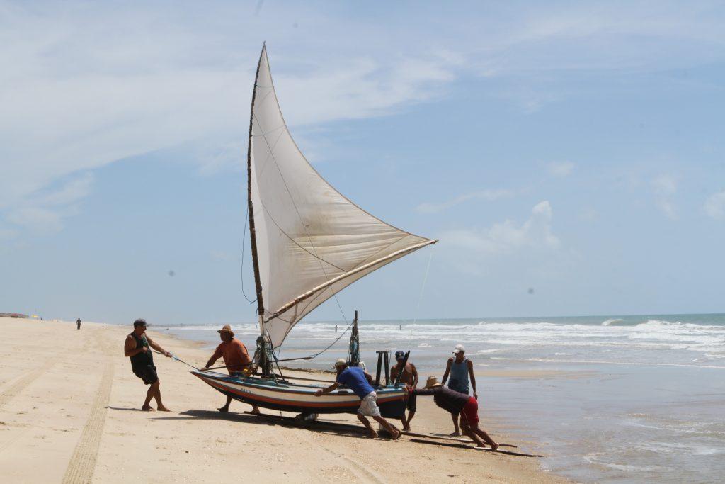 Img 2038 Jangadas Com Pescadores Da Praia Do Iguape Em Aquiraz