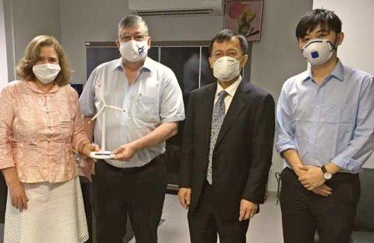 Executivo de companhia chinesa de eólica offshore chega ao Ceará para tratar sobre a implantação de parque gerador