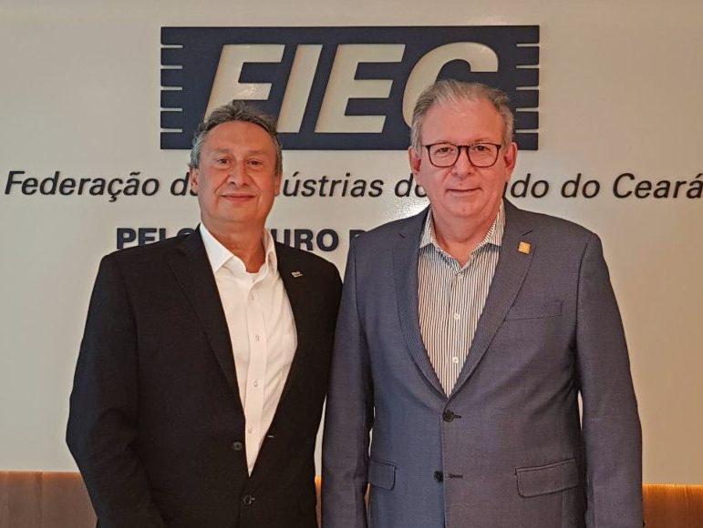 Ricardo Cavalcante alinha vários projetos futuros no Ceará com o presidente da CSP