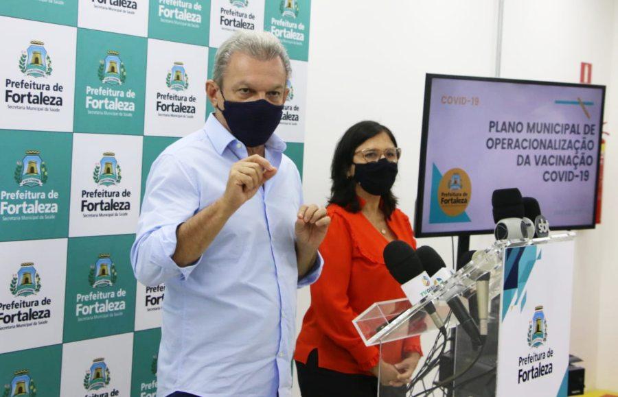 Fase inicial da vacinação em Fortaleza vai imunizar 40 mil pessoas com prioridade